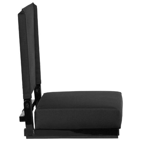 Flash Furniture Grandstand Comfort Seats by Flash with Ultra-Padded Seat in Black XUSTABKGG ; Image 3 ; UPC 889142026143