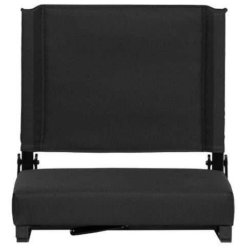 Flash Furniture Grandstand Comfort Seats by Flash with Ultra-Padded Seat in Black XUSTABKGG ; Image 5 ; UPC 889142026143
