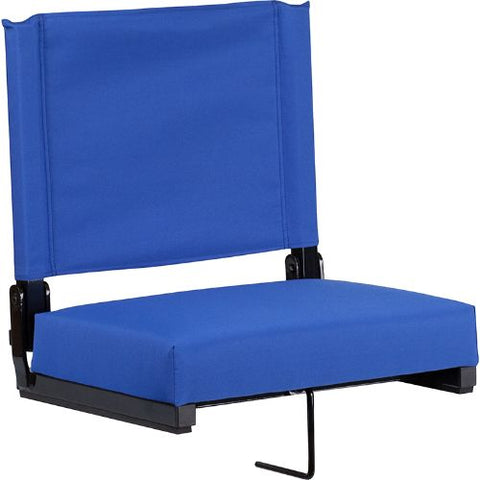 Flash Furniture Grandstand Comfort Seats by Flash with Ultra-Padded Seat in Blue XUSTABLGG ; Image 1 ; UPC 889142026167