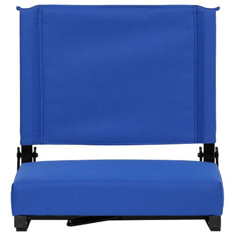 Flash Furniture Grandstand Comfort Seats by Flash with Ultra-Padded Seat in Blue XUSTABLGG ; Image 5 ; UPC 889142026167