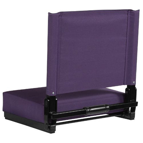 Flash Furniture Grandstand Comfort Seats by Flash with Ultra-Padded Seat in Dark Purple XUSTADKPURGG ; Image 3 ; UPC 889142400301