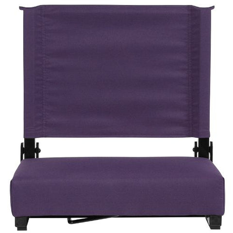 Flash Furniture Grandstand Comfort Seats by Flash with Ultra-Padded Seat in Dark Purple XUSTADKPURGG ; Image 4 ; UPC 889142400301