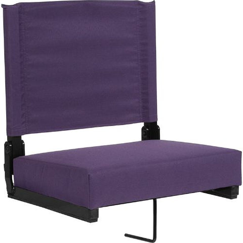 Flash Furniture Grandstand Comfort Seats by Flash with Ultra-Padded Seat in Dark Purple XUSTADKPURGG ; Image 1 ; UPC 889142400301