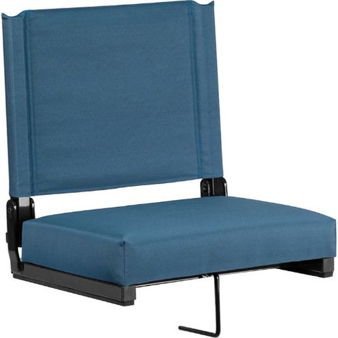 Flash Furniture Grandstand Comfort Seats by Flash with Ultra-Padded Seat in Teal XUSTAGNGG ; Image 1 ; UPC 889142026181
