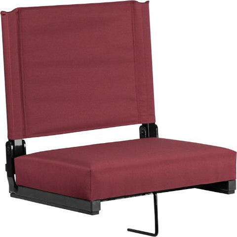 Flash Furniture Grandstand Comfort Seats by Flash with Ultra-Padded Seat in Maroon XUSTAMGG ; Image 1 ; UPC 889142026174