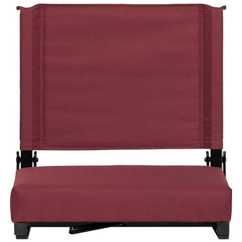Flash Furniture Grandstand Comfort Seats by Flash with Ultra-Padded Seat in Maroon XUSTAMGG ; Image 5 ; UPC 889142026174