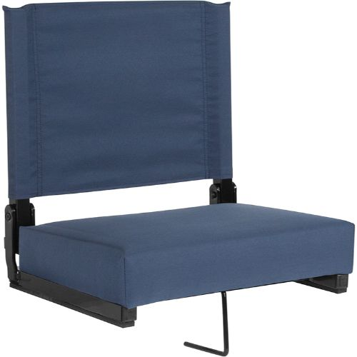 Flash Furniture Grandstand Comfort Seats by Flash with Ultra-Padded Seat in Navy Blue XUSTANAVYGG ; Image 1 ; UPC 889142400332