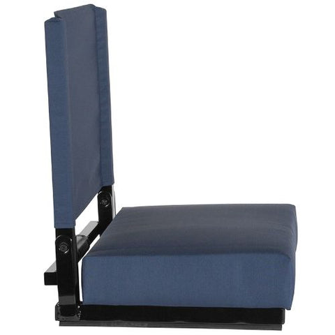 Flash Furniture Grandstand Comfort Seats by Flash with Ultra-Padded Seat in Navy Blue XUSTANAVYGG ; Image 2 ; UPC 889142400332