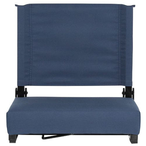 Flash Furniture Grandstand Comfort Seats by Flash with Ultra-Padded Seat in Navy Blue XUSTANAVYGG ; Image 4 ; UPC 889142400332