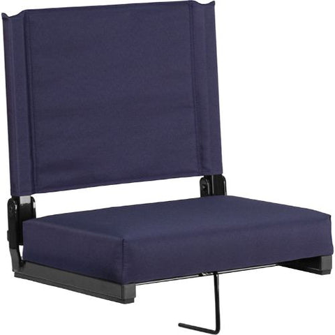 Flash Furniture Grandstand Comfort Seats by Flash with Ultra-Padded Seat in Navy XUSTANVYGG ; Image 1 ; UPC 889142026204