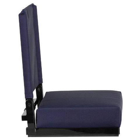 Flash Furniture Grandstand Comfort Seats by Flash with Ultra-Padded Seat in Navy XUSTANVYGG ; Image 3 ; UPC 889142026204