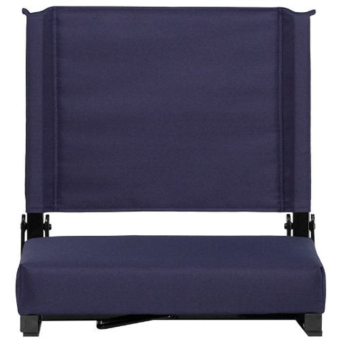 Flash Furniture Grandstand Comfort Seats by Flash with Ultra-Padded Seat in Navy XUSTANVYGG ; Image 5 ; UPC 889142026204