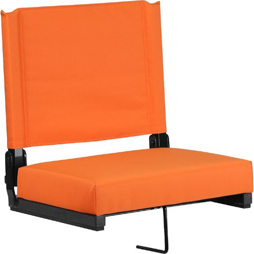 Flash Furniture Grandstand Comfort Seats by Flash with Ultra-Padded Seat in Orange XUSTAORGG ; Image 1 ; UPC 889142026211