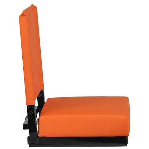 Flash Furniture Grandstand Comfort Seats by Flash with Ultra-Padded Seat in Orange XUSTAORGG ; Image 3 ; UPC 889142026211