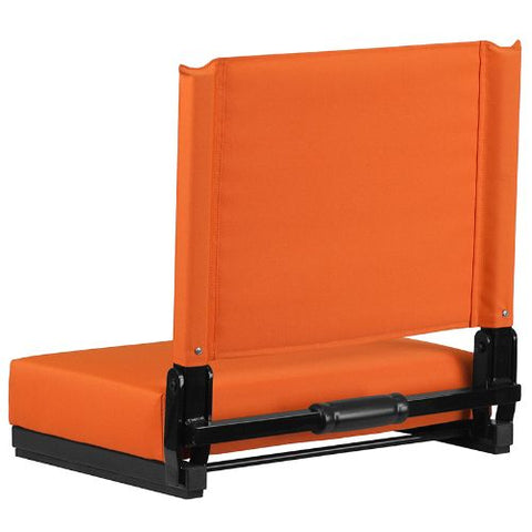Flash Furniture Grandstand Comfort Seats by Flash with Ultra-Padded Seat in Orange XUSTAORGG ; Image 4 ; UPC 889142026211
