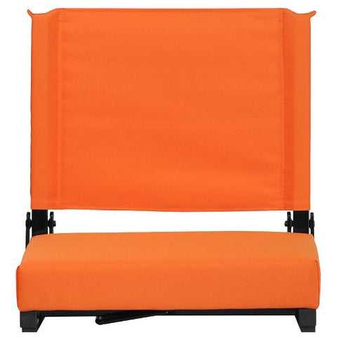 Flash Furniture Grandstand Comfort Seats by Flash with Ultra-Padded Seat in Orange XUSTAORGG ; Image 5 ; UPC 889142026211