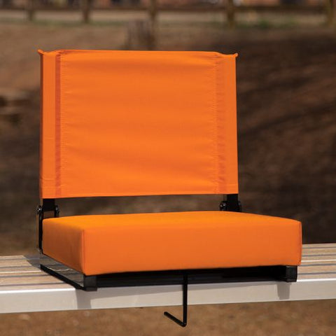 Flash Furniture Grandstand Comfort Seats by Flash with Ultra-Padded Seat in Orange XUSTAORGG ; Image 2 ; UPC 889142026211