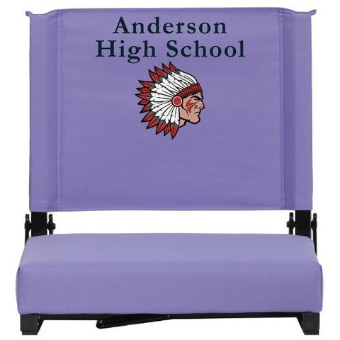 Flash Furniture Embroidered Grandstand Comfort Seats by Flash with Ultra-Padded Seat in Purple XUSTAPUREMBGG ; Image 1 ; UPC 889142048619