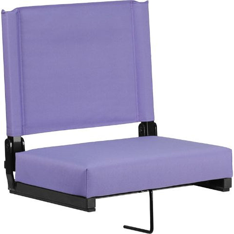 Flash Furniture Grandstand Comfort Seats by Flash with Ultra-Padded Seat in Purple XUSTAPURGG ; Image 1 ; UPC 889142026198