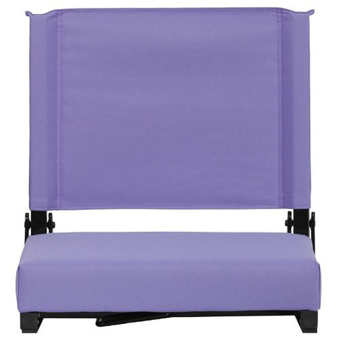 Flash Furniture Grandstand Comfort Seats by Flash with Ultra-Padded Seat in Purple XUSTAPURGG ; Image 5 ; UPC 889142026198
