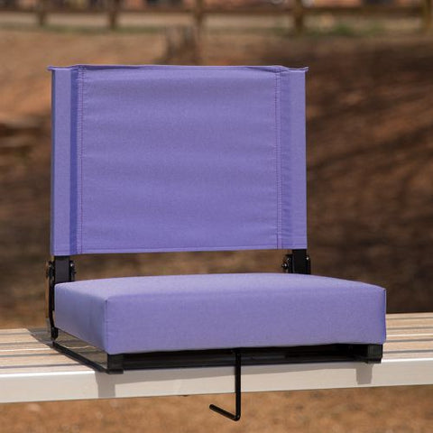 Flash Furniture Grandstand Comfort Seats by Flash with Ultra-Padded Seat in Purple XUSTAPURGG ; Image 2 ; UPC 889142026198