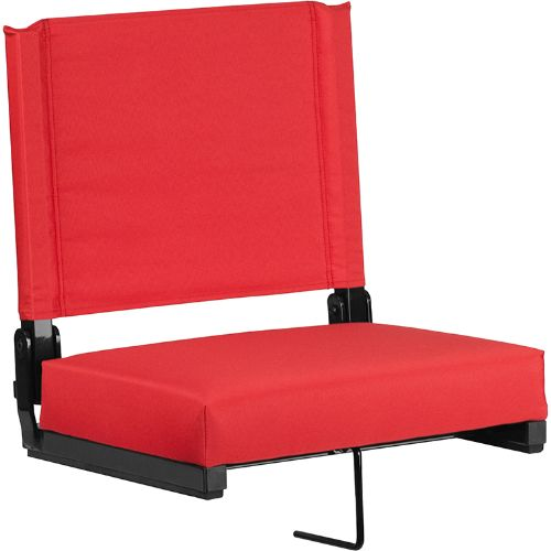 Flash Furniture Grandstand Comfort Seats by Flash with Ultra-Padded Seat in Red XUSTAREDGG ; Image 1 ; UPC 889142026150