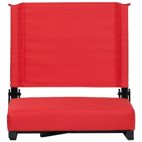 Flash Furniture Grandstand Comfort Seats by Flash with Ultra-Padded Seat in Red XUSTAREDGG ; Image 5 ; UPC 889142026150
