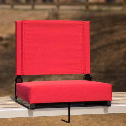 Flash Furniture Grandstand Comfort Seats by Flash with Ultra-Padded Seat in Red XUSTAREDGG ; Image 2 ; UPC 889142026150
