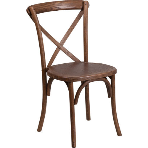 Flash Furniture HERCULES Series Stackable Pecan Wood Cross Back Chair XUXPECGG ; Image 1 ; UPC 889142092216