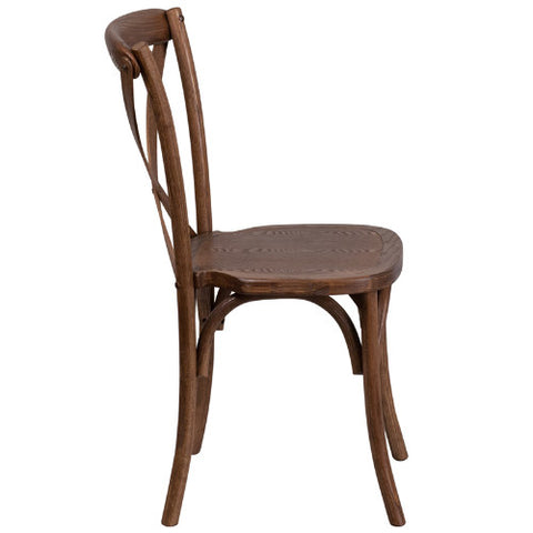 Flash Furniture HERCULES Series Stackable Pecan Wood Cross Back Chair XUXPECGG ; Image 2 ; UPC 889142092216