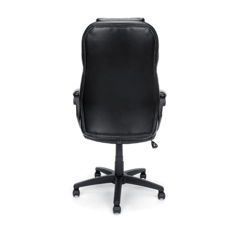 Essentials by OFM ESS-6060 High-Back Racing Style Bonded Leather Executive Chair, Black ; UPC: 845123089354 ; Image 3