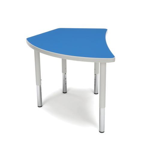 OFM Adapt Series Crescent Student Table - 18-26? Height Adjustable Desk, Blue (CREST-SL) ; UPC: 845123096260 ; Image 4
