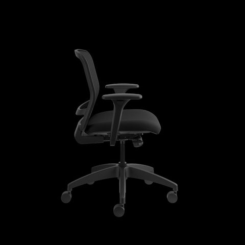 HON Quotient Mid-Back Task Chair with Mesh Back, in Black (HQTMM) ; UPC: 089192690589 ; Image 4
