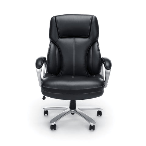 Essentials by OFM ESS-202 Big and Tall Leather Executive Office Chair with Arms, Black/Silver ; UPC: 845123080139 ; Image 2