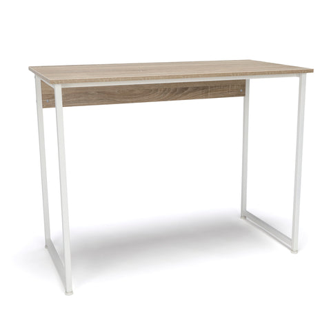 Essentials by OFM ESS-1040 Office/Computer Desk and Workstation with Metal Legs, Natural with White Frame ; UPC: 845123095546 ; Image 1