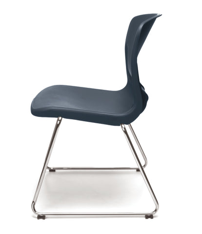 OFM Model 315 Multi-Use Stack Chair, Plastic Seat and Back, Navy ; UPC: 845123034767 ; Image 5