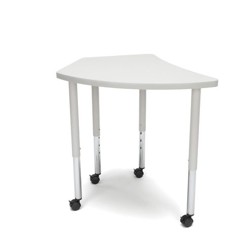 OFM Adapt Series Crescent Standard Table - 25-33? Height Adjustable Desk with Casters , Gray Nebula (CREST-LLC) ; UPC: 845123096550 ; Image 5