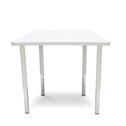 OFM Adapt Series Trapezoid Standard Table - 23-31? Height Adjustable Desk, White (TRAP-LL) ; UPC: 845123096697 ; Image 2