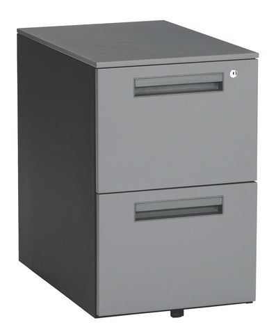 OFM Mesa Series Model 66200 Wheeled Mobile 2-Drawer Steel File Cabinet, Gray ; UPC: 811588011797 ; Image 1