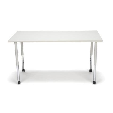 OFM Adapt Series Rectangle Standard Table - 25-33? Height Adjustable Desk with Casters, Gray Nebula (RECT-LLC) ; UPC: 845123096079 ; Image 2