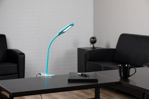 OFM ESS-9001-10PK-TE Essentials LED Desk Lamp with Removable Base and Integrated Desk Clamp, Teal (Pack of 10) ; UPC: 192767000512 ; Image 12