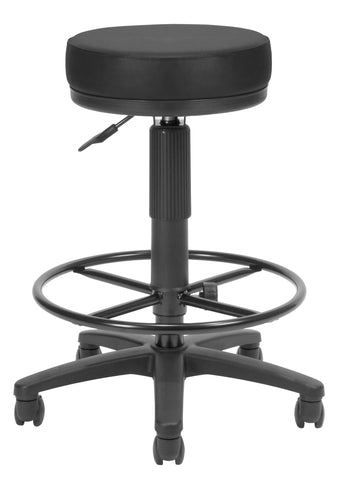 OFM Anti-Bacterial Utility Stool with Drafting Kit, Black ; UPC: 811588015634 ; Image 1
