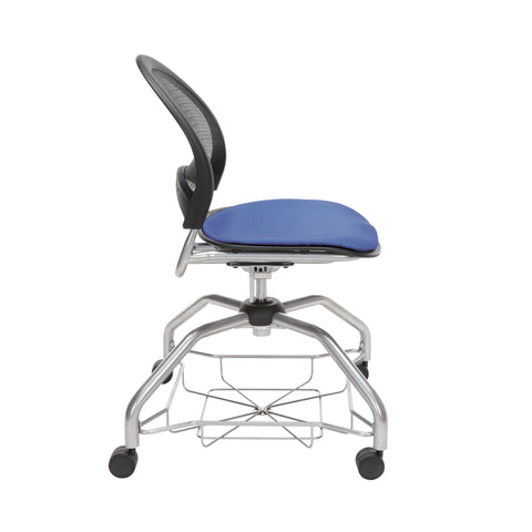 OFM Moon Foresee Series Chair with Removable Fabric Seat Cushion - Student Chair, Colonial Blue (339) ; UPC: 845123094389 ; Image 4