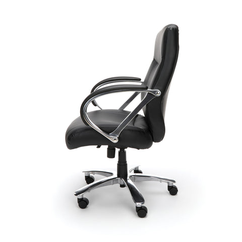 OFM Avenger Series Model 811-LX Leather Mid-Back Big and Tall Executive Chair, Black ; UPC: 845123009918 ; Image 4
