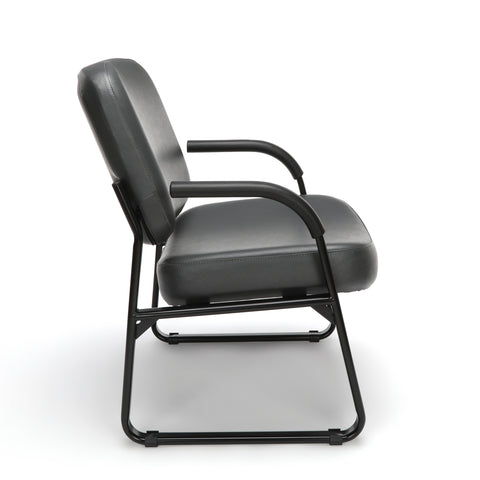 OFM Model 407-VAM Big and Tall Guest and Reception Chair with Arms, Anti-Microbial/Anti-Bacterial Vinyl, Charcoal ; UPC: 845123028605 ; Image 4