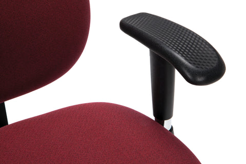OFM 24 Hour Big and Tall Ergonomic Task Chair - Computer Desk Swivel Chair with Arms, Burgundy (247) ; UPC: 811588010288 ; Image 7