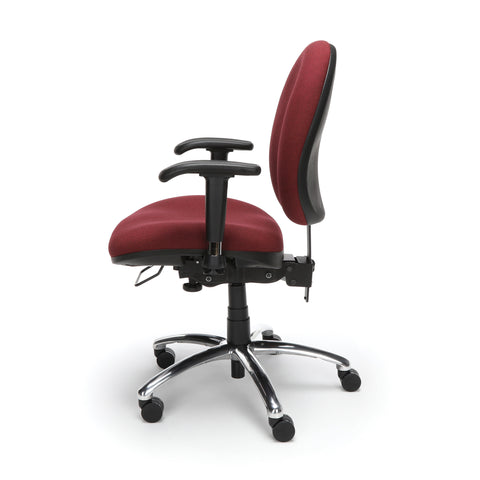 OFM 24 Hour Big and Tall Ergonomic Task Chair - Computer Desk Swivel Chair with Arms, Burgundy (247) ; UPC: 811588010288 ; Image 5