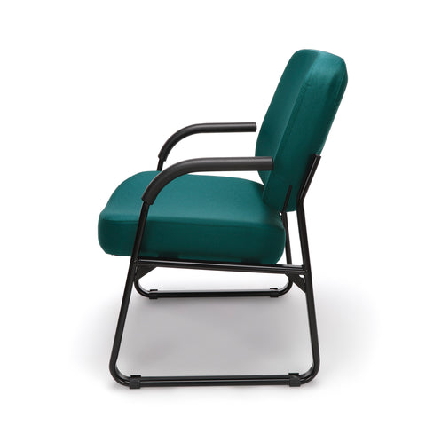 OFM Model 407 Fabric Big and Tall Guest and Reception Chair with Arms, Teal ; UPC: 845123030776 ; Image 5
