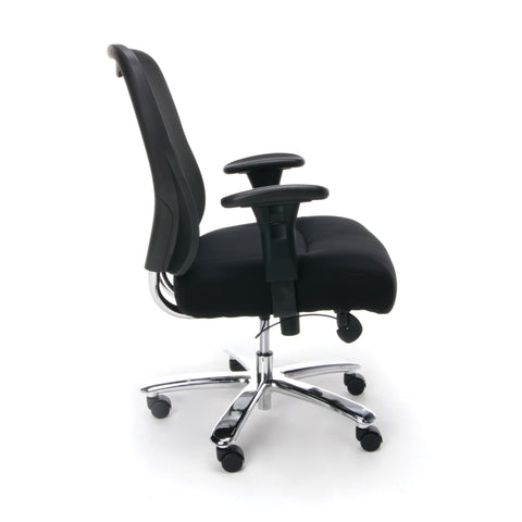 Essentials by OFM ESS-200 Big and Tall Swivel Mesh Office Chair with Arms, Black/Chrome ; UPC: 845123080115 ; Image 4