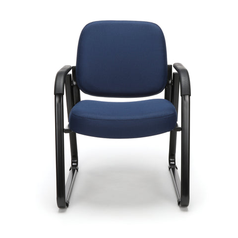 OFM Model 403 Fabric Guest and Reception Chair with Arms and Extra Thick Cushion, Navy ; UPC: 811588014149 ; Image 2